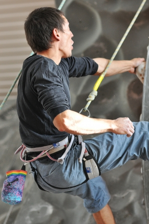 Competitions in rock climbing