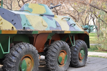 counter terrorism: A Russian armored personnel carrier BTR70 year built 1974