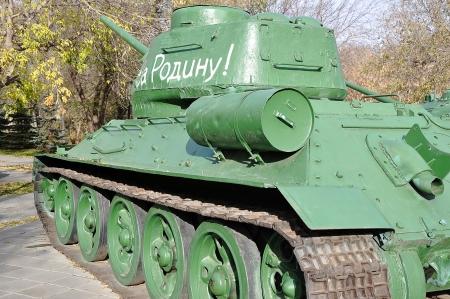 Soviet tank T34 Stock Photo - 17025423