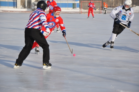 Russian Premier League match ball hockey:  Lokomotiv  Orenburg