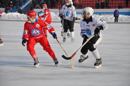 premier league: Russian Premier League match ball hockey:  Lokomotiv  Orenburg