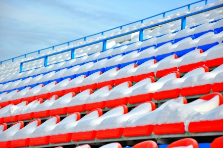 Rows of chairs the ice stadium Stock Photo - 17308279
