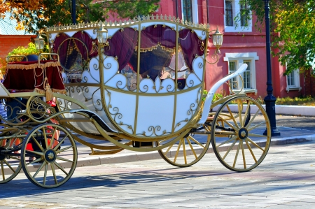 Wedding carriage photo
