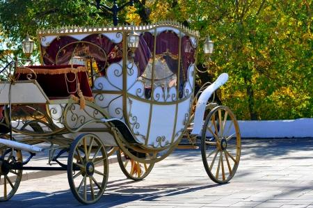 Bruiloft vervoer Stockfoto