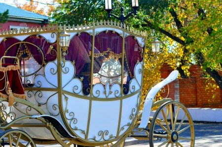Hochzeitskutsche Standard-Bild - 17338281