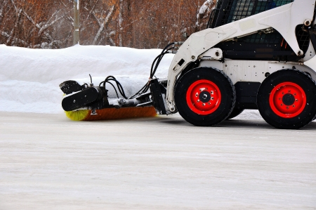 Machine for snow removal Stock Photo