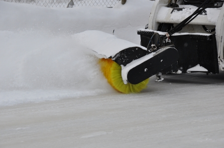 Machine for snow removal photo