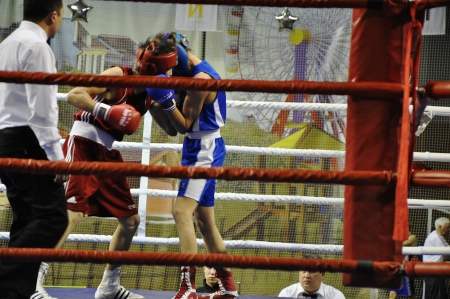 XVII all-boxing tournament grade b championships on Northern Territory administration prizes, Orenburg.