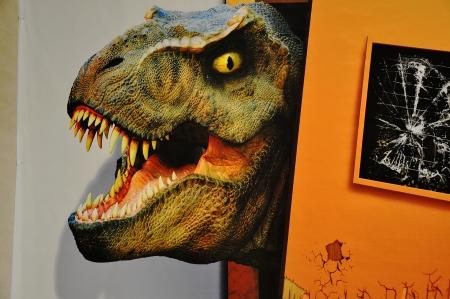 frightening: Dino Park Stock Photo