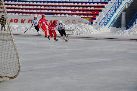 premier league: Russian Premier League match ball hockey:  Lokomotiv  Orenburg  Universal  Saratov Editorial
