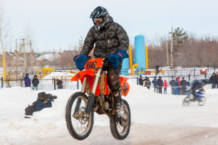 Winter Motocross competitions among Juniors