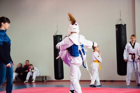 The Korean martial art of taekwondo