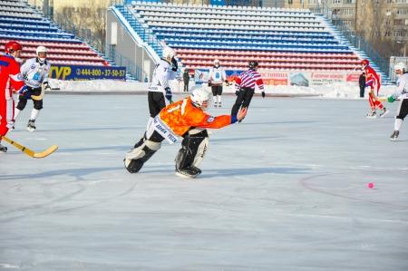 premierleague: Russian Premier League Match Ball Hockey: Lokomotiv Orenburg universale Saratov Editoriali