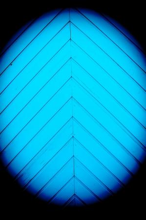 Angular blue strips of wood photo