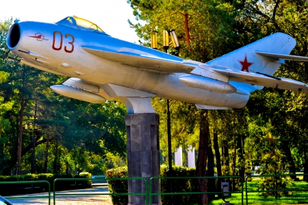 On MiG 17 learned to fly the world first astronaut Yuri Gagarin