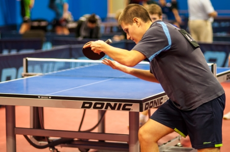 Russian table tennis tournament in memory of Victor Chernomyrdin started in Orenburg, 30.10.2013, city of Orenburg, Southern Ural, Russia