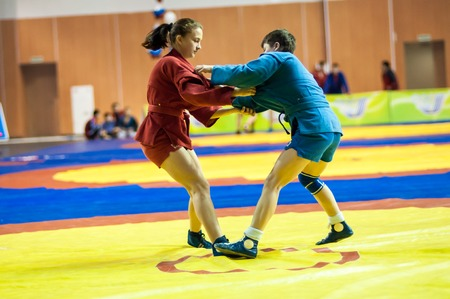 sambo: Orenburg Sambo Championship on the 75-th anniversary of Russian Sambo Federation. 17.11.2013, city of Orenburg, Southern Ural, Russia Editorial