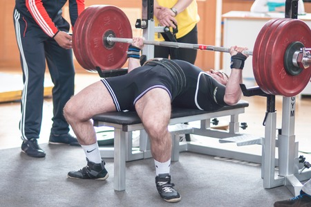 powerlifting: ORENBURG, ORENBURG region, RUSSIA, May 1, 2014 year. Orenburg oblast Championship Powerlifting Editorial