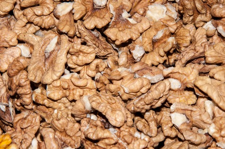mellitus: Walnut kernels contain various elements that enhance memory and helps in the treatment of diabetes mellitus Stock Photo