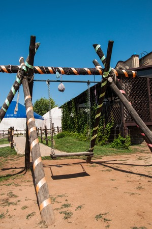 nomads: Swing set made in the tradition of ancient nomads in detail