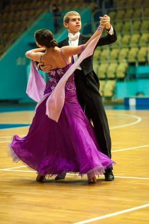 ORENBURG, ORENBURG region, RUSSIA, 3 October, 2014 year.  Open Championship city of dancesport. Dance couple