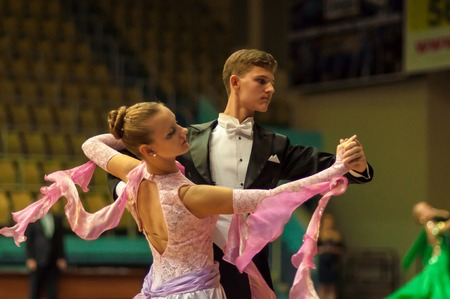 ORENBURG, ORENBURG region, RUSSIA, 3 October, 2014 year. Open Championship city of dancesport. Dance couple