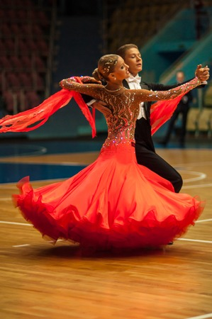 ORENBURG, ORENBURG region, RUSSIA, 3 October, 2014 year.  Open Championship city of dancesport. Dance couple,