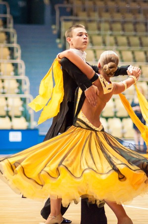 ORENBURG, ORENBURG region, RUSSIA, 3 October, 2014 year.  Open Championship city of dancesport. Dance couple,