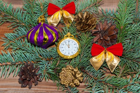 last day: The new year is a Festival celebrated by many peoples in accordance with the adopted calendar, coming at a time of transition from the last day of the year on the first day of the following year. Stock Photo