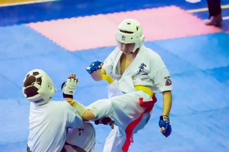 ORENBURG, ORENBURG region, RUSSIA, 16 November, 2014 year.\ Open karate tournament kiokusinkaj\