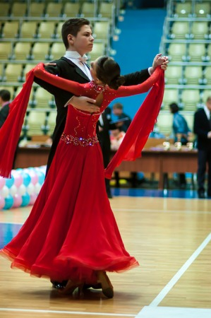 ORENBURG - 03 October: Open Championship city of dancesport. Young couples compete in sports dancing 03 October 2014 in ORENBURG, ORENBURG region, RUSSIA.