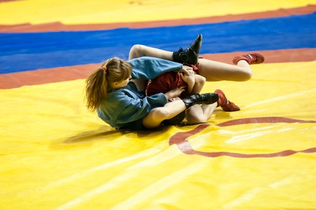 sambo: Sambo or Self-defense without weapons. Competitions girls.
