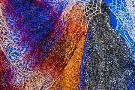 fluff: Orenburg downy shawl from natural goat fluff