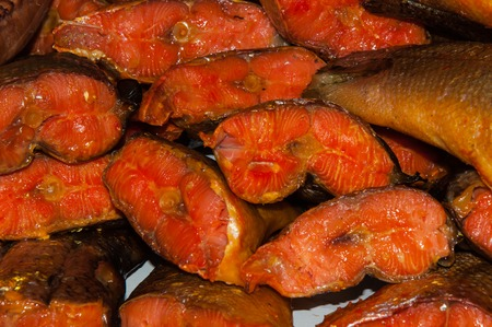 bazaar: Marine smoked fish is sold at the Bazaar