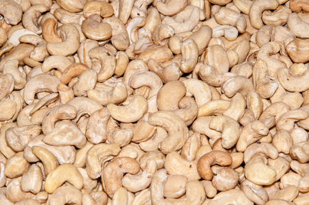 allocated: Cashew nuts are allocated from the diversity nuts for its unusual form, in the form of a comma