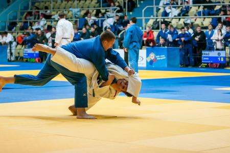compete: Orenburg, Russia - 31 October 2015: Boys compete in Judo