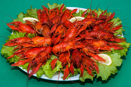 Boiled crayfish a good snack to beer
