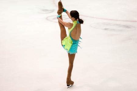figure skater: Orenburg, Russia - 26.03.2016: Girl figure skater in competitions Orenburg expanses.