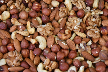 A mixture of dried nuts sold at the Bazaar
