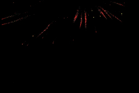 Abstract Christmas lights over the evening Imagens