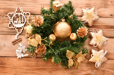 Colorful Christmas balls and decorative decorations for the Christmas tree Фото со стока