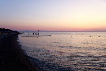 Early morning in the Mediterranean. Turkey.