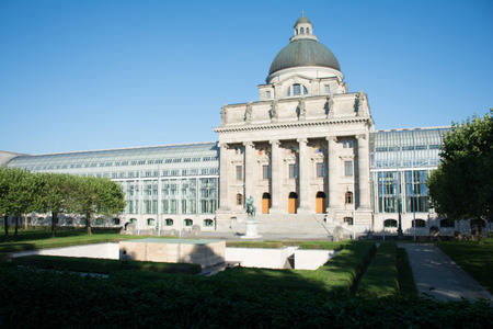 baukunst: Munich,Germany, Bavarian state building and frontal park