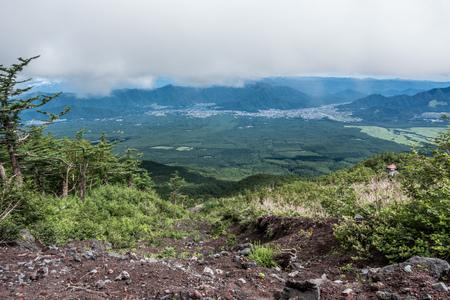 Mount Fuji mountain trail, climbing the mountain, ruins Stock Photo - 91516740