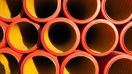 Plastic pipes for the installation of water supply and sewerage