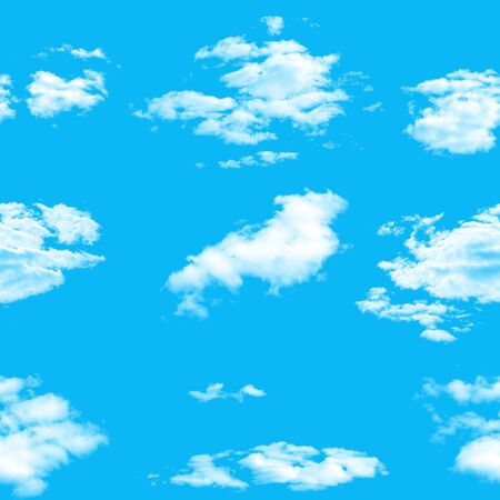 seamless pattern. blue sky with white clouds. High quality photo