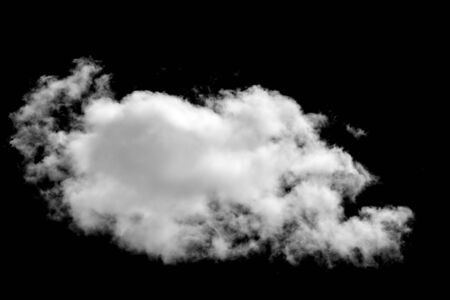 white cloud isolated on black background. High quality photo Banco de Imagens
