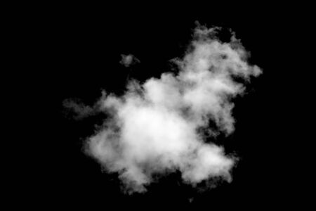 white cloud isolated on black background. High quality photo