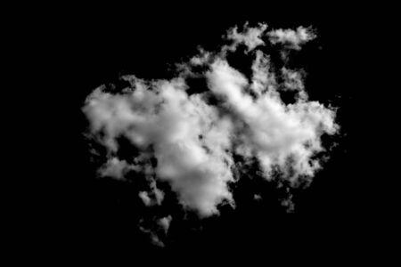 white cloud isolated on black background. High quality photo Zdjęcie Seryjne