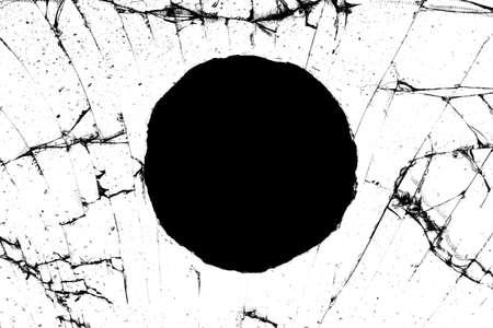 round black hole with cracks isolated on white background. High quality illustration